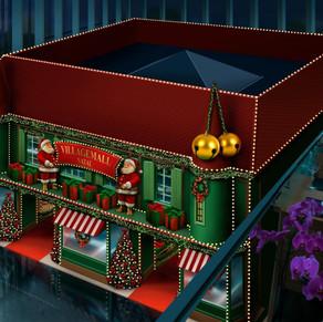 VillageMall traz vitrines animatrônicas e realidade virtual em sua decoração de Natal