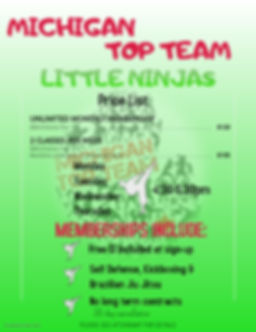 LITTLE NINJAS PRICE LIST - Made with Pos