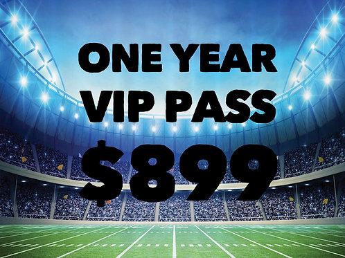 1 Year V.I.P. Pass