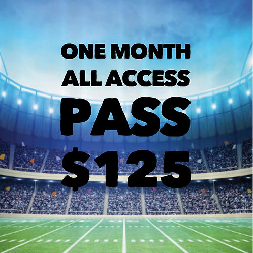 1 Month All Access Pass