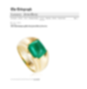 Liv Luttrell emerald spear tip ring featured in the Telegraph