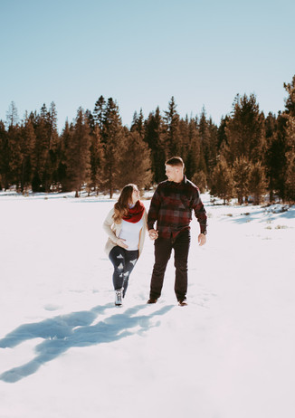 Lake Tahoe Snow Maternity Session