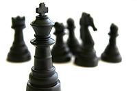Pièces d'échecs noir