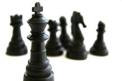 Piezas de ajedrez negro