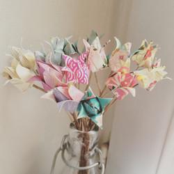 Bouquet de fleurs en origami