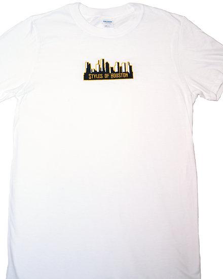 Styles Of Houston Tee / White Shirt / Yellow Logo