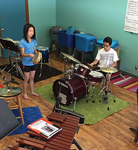 Small group playing instruments