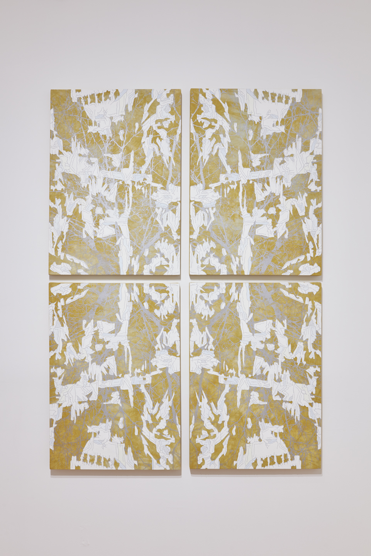 Untitled (Silver Tree Gold Mandala)