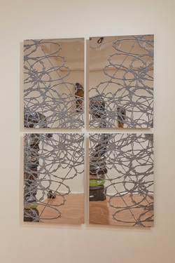 Mirror Mandala Razor Wire 2