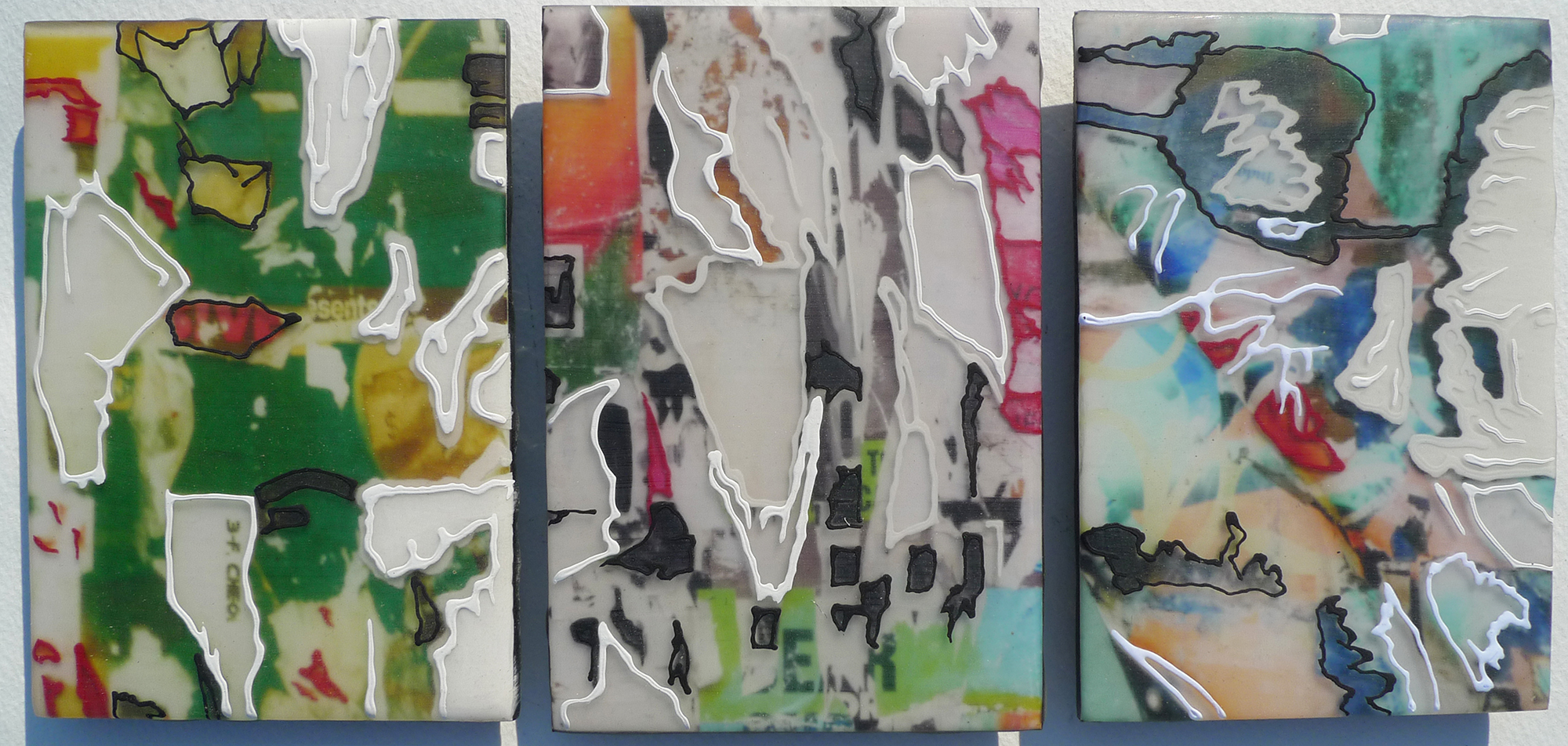 Untitled (Small Shred Triptych)