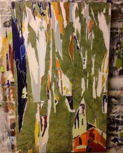 Untitled (Color Shred on Green I)