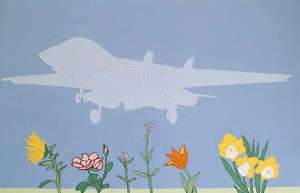 Fighter Plane Over Flowery Plain