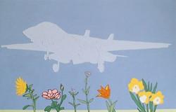 Fighter Plane Over Flowery Plain