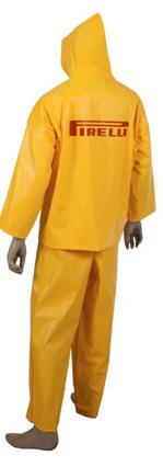capa de chuva epi conjunto amarelo pvc