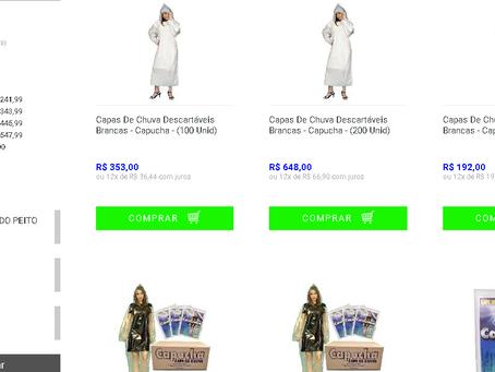 Estamos lançando a mais nova loja virtual de capas de chuva