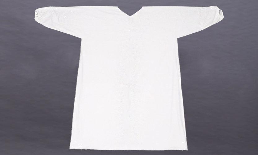 avental capa fechado com elasticos nas m