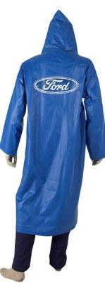 capa de chuva azul de pvc forrado