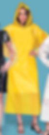 Capa de chuva amarela descartável