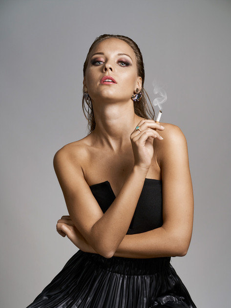 Ramona with cigarette