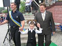 А.П. Грицюк на святі Останнього дзвоника у 2007 році
