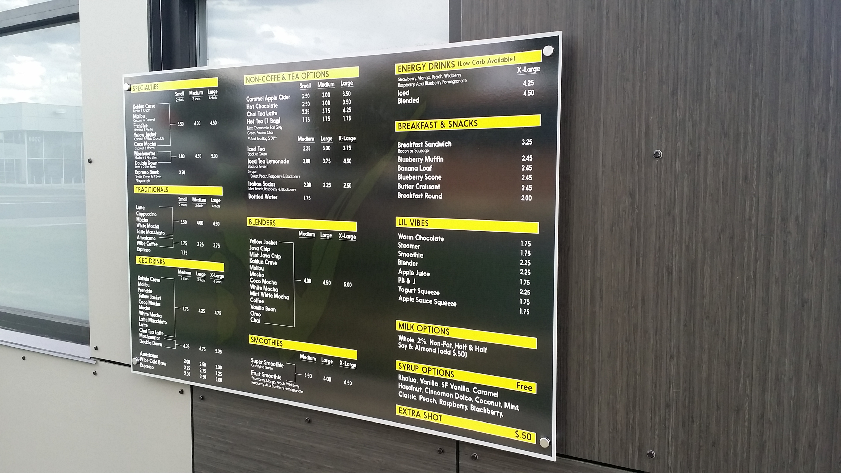 menu boards custom