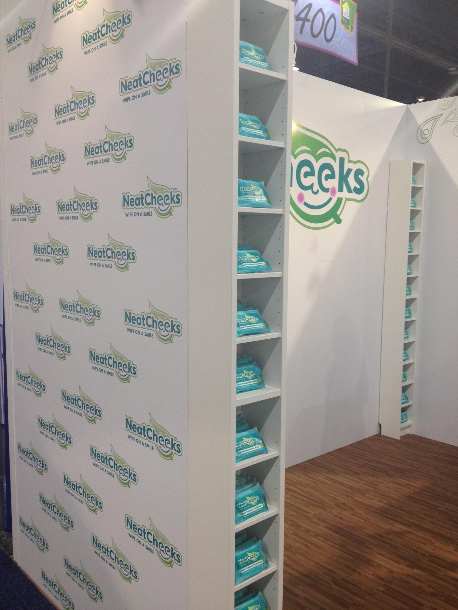 wrapped trade show booth