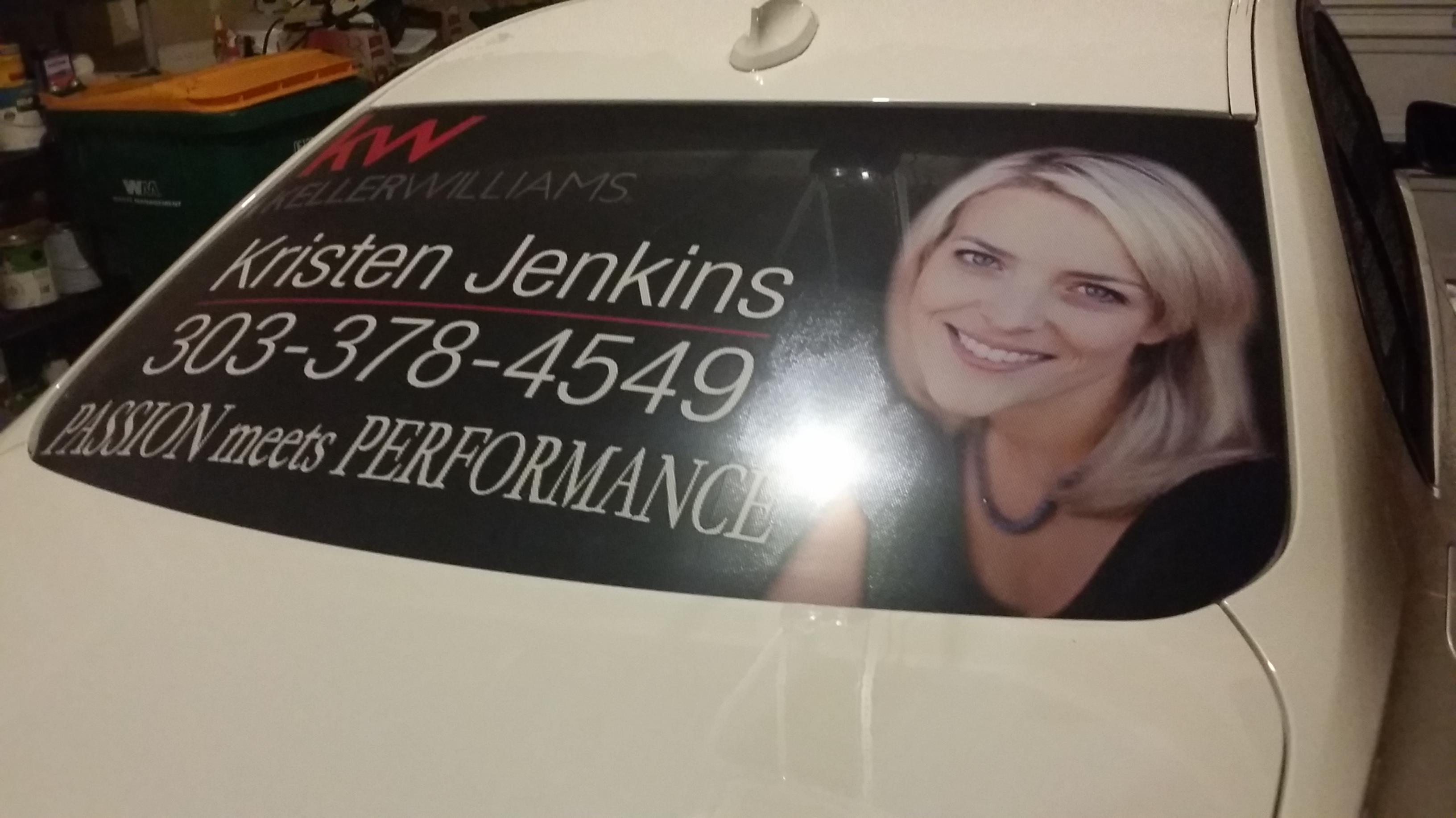 car window sign