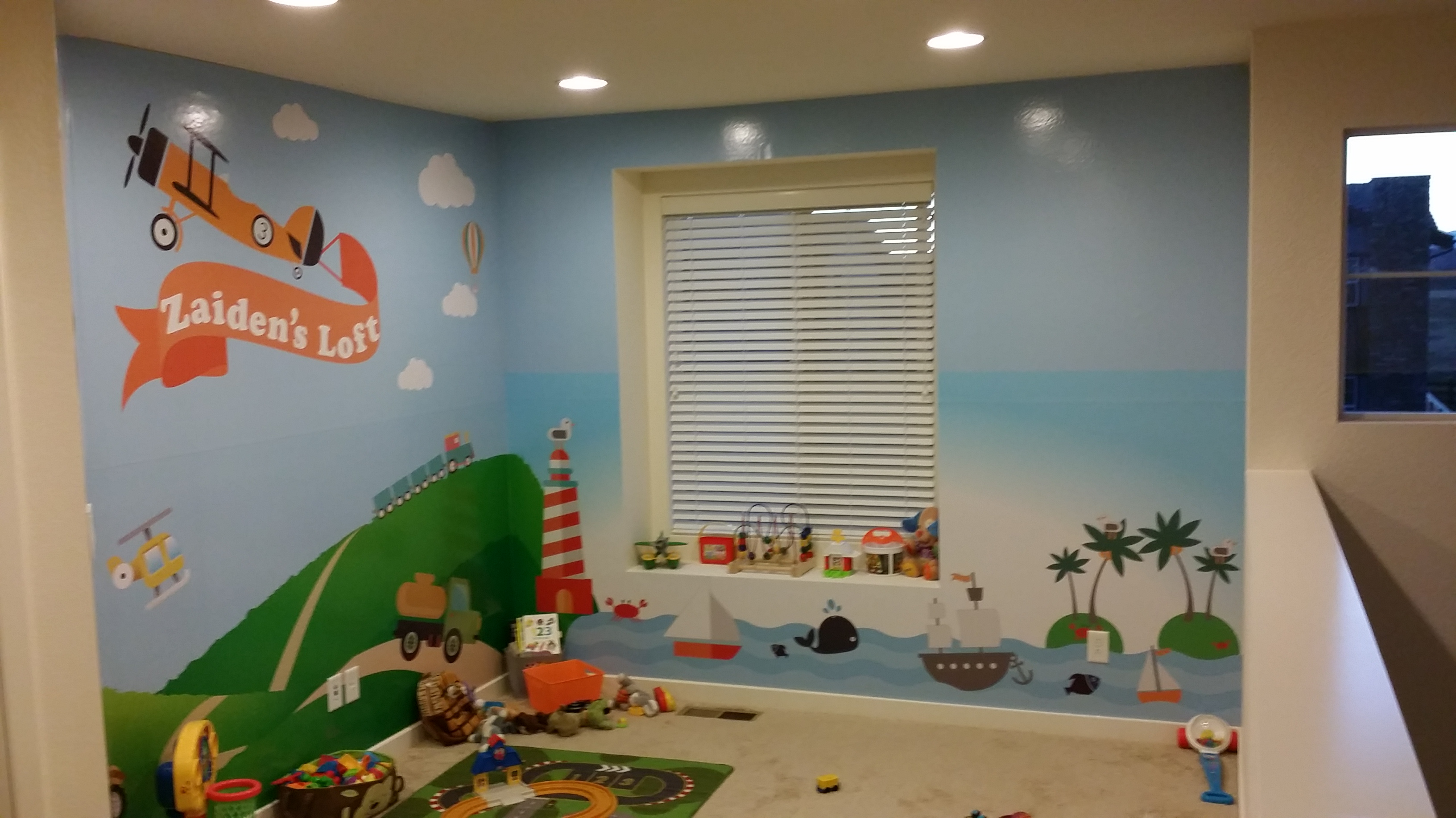 kids play room wall wrap