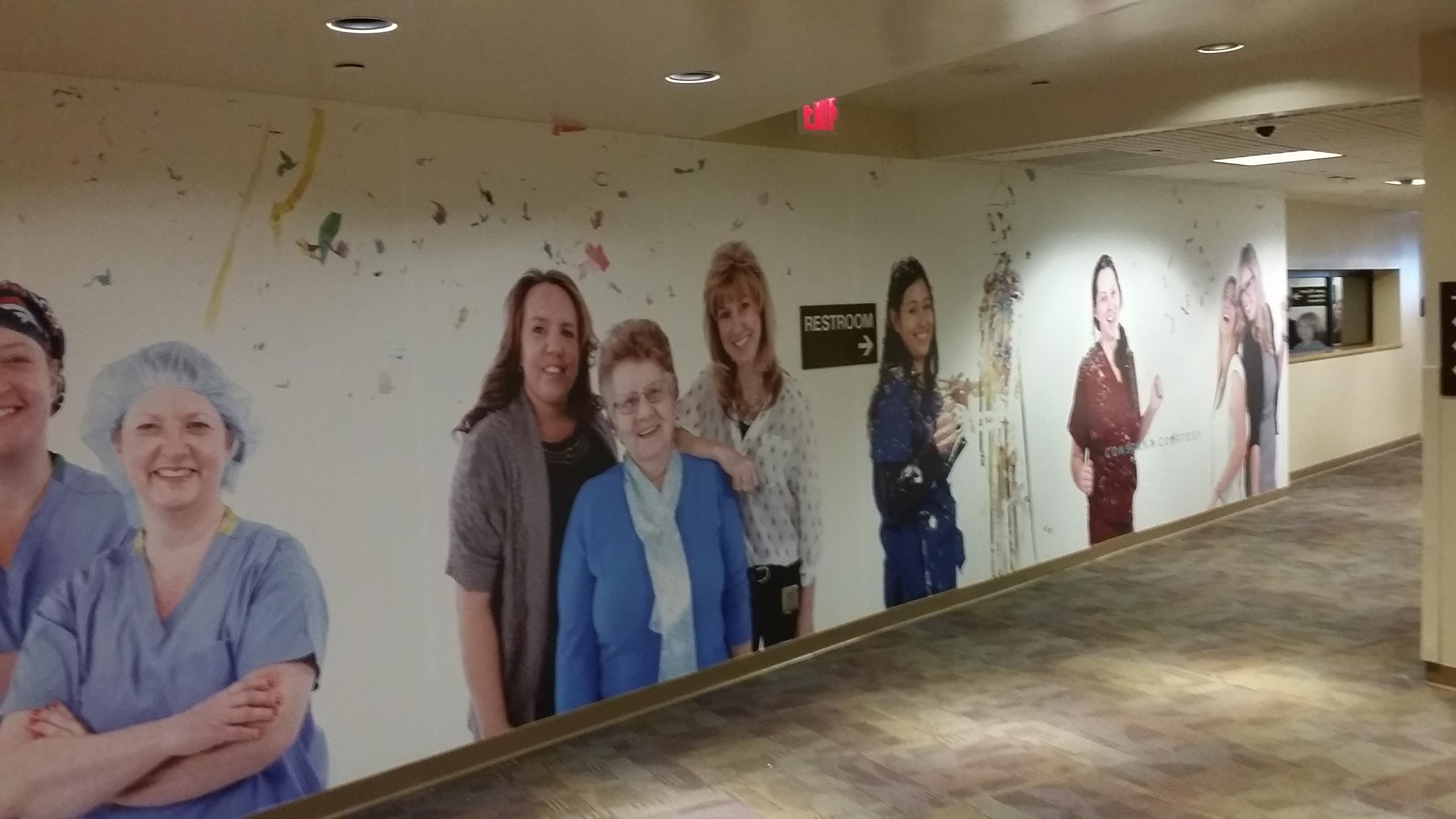 hallway wall graphics