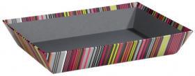 Panier à rayures multicolores
