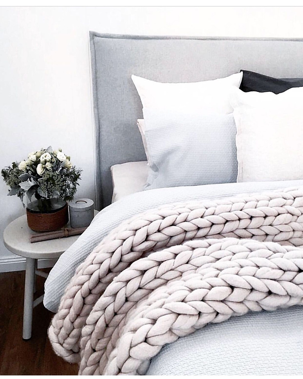 Find An Oversized Throw ~ Add a chunky knit throw to cozy-up a dull space.