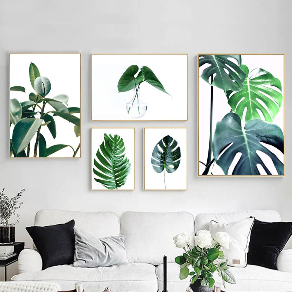 DIY Botanical Prints ~ Create your own botanical prints by scanning leaves - Philodendrons are perfect for this project. Then have them blown up and put into standard-size frames (frame them in a group).