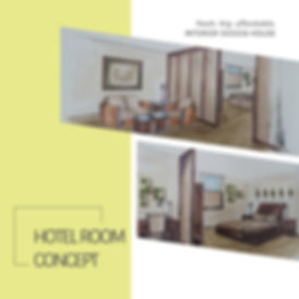 "Simple but effective hand-drawn ""Hotel Room Concepts"" created for a client in Montreal, Quebec."