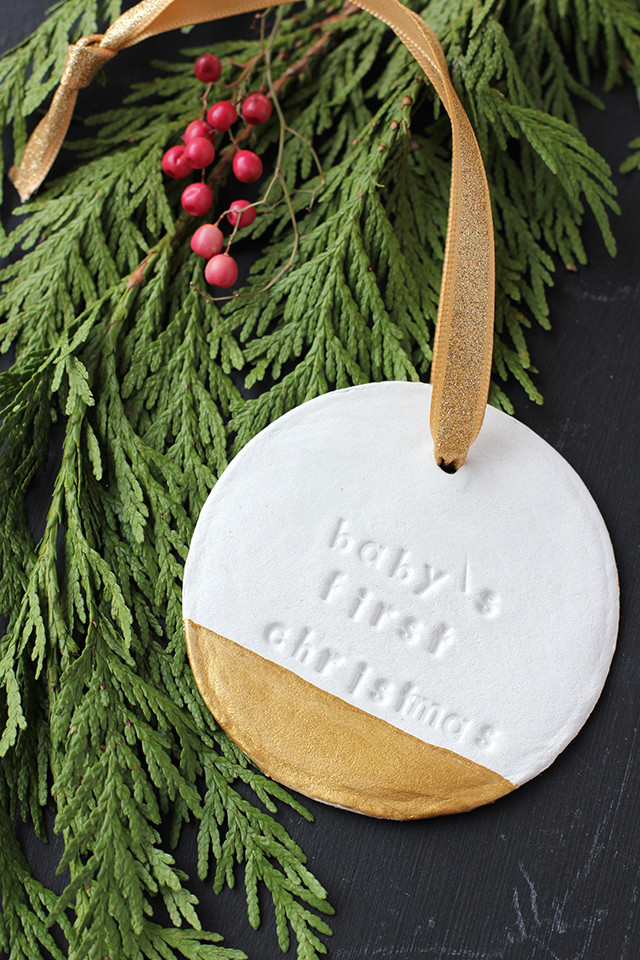 Christmas Decor - DIY - Baby's First Christmas Clay Ornament