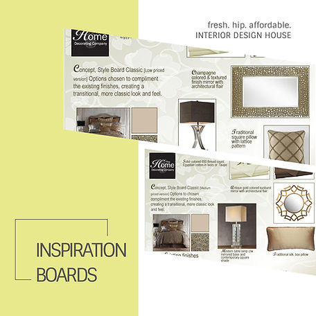 "Simple but effective ""Inspirational Boards"" created for a client in New York, USA."