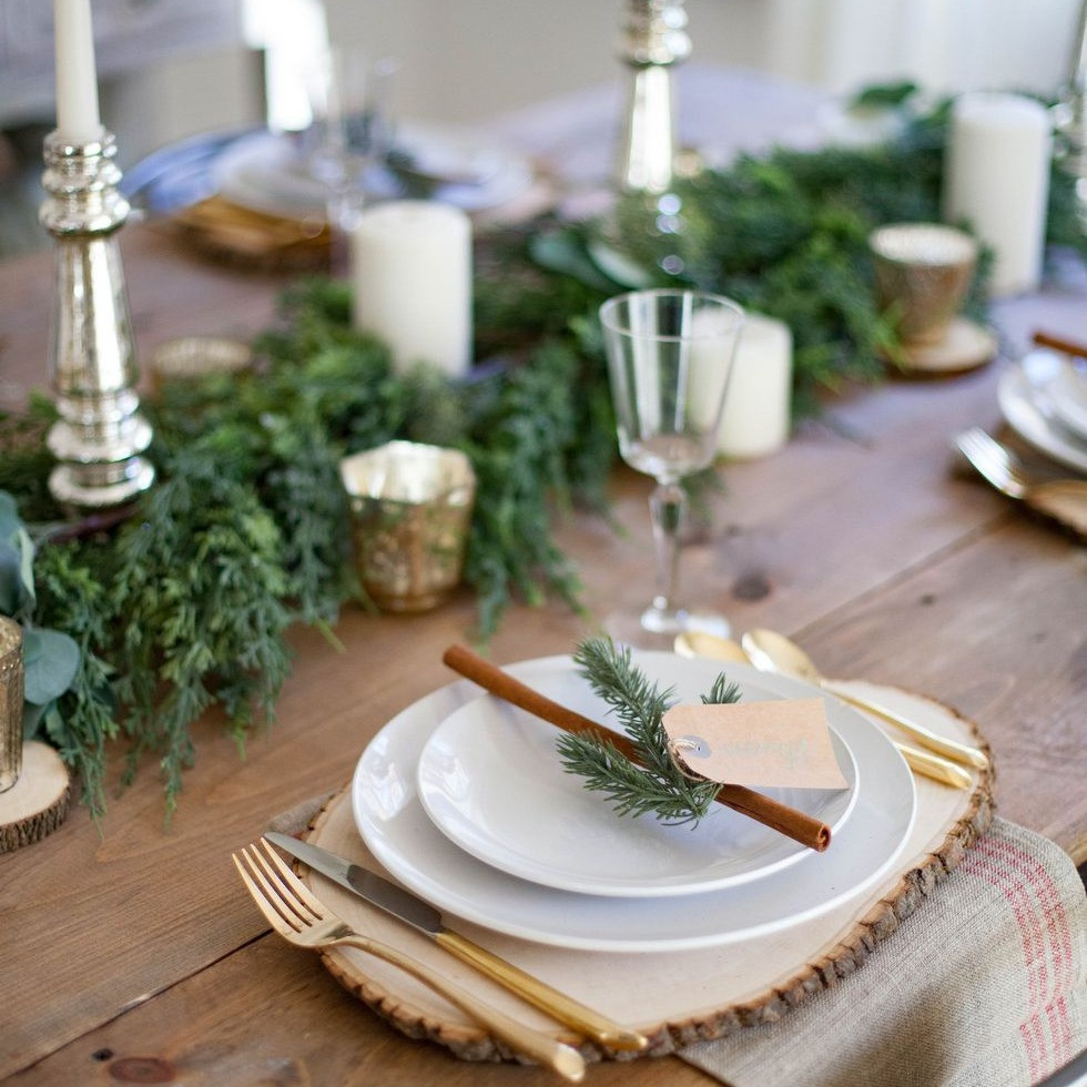 Christmas Decor - Rustic - Dress up a dinner table