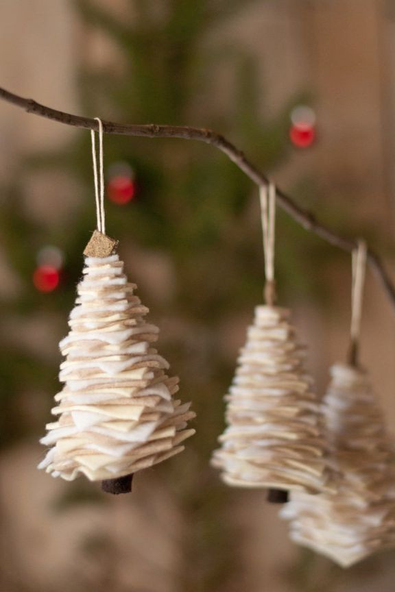 Christmas Decor - DIY - Felt Tree Ornaments
