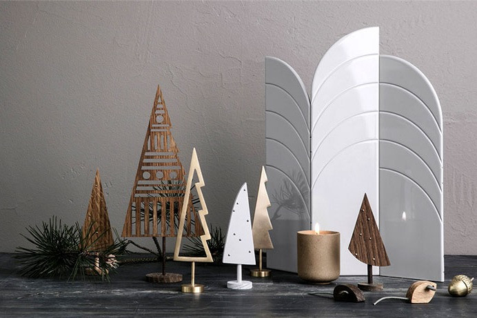 Christmas Decor - Urban Chic - Glass, Metal and Concrete