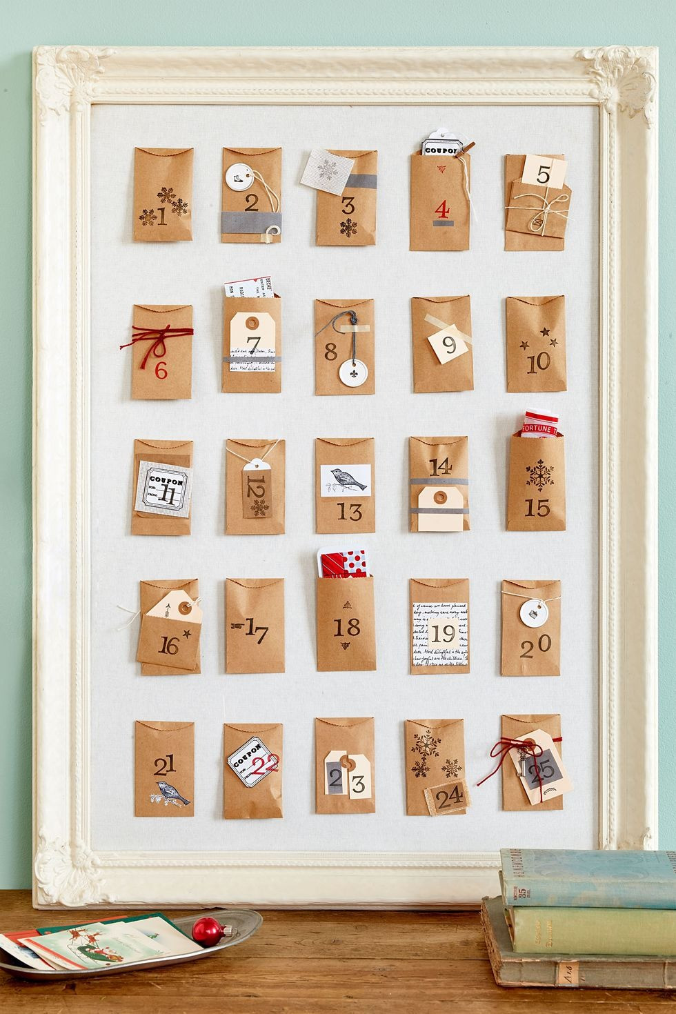Christmas Decor - DIY - Vintage Paper Envelope Advent Calendar