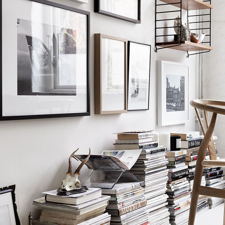 Stack Magazines [image Elle Decor]