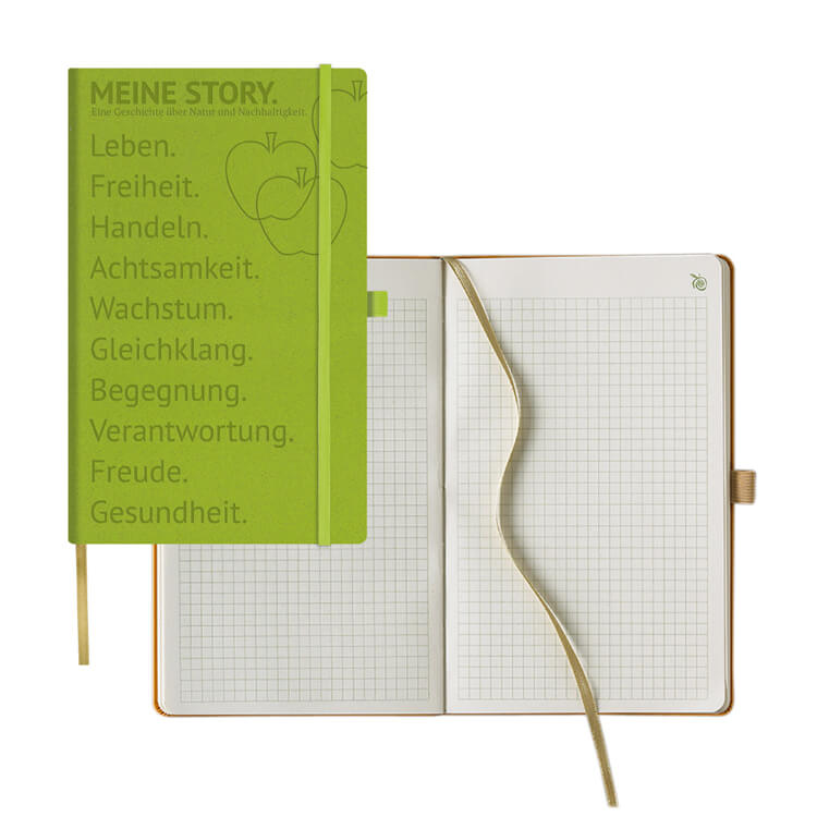 Nachhaltiger Notizbuch