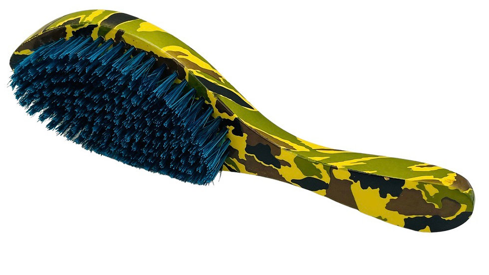 BLUE BRISTLES 360, 540, 720 Camouflage MEDIUM/HARD Curve Handle