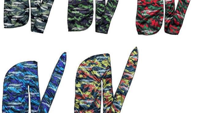 ALL 5 Colours Rapid Waves Premium Camouflage Designer Durags