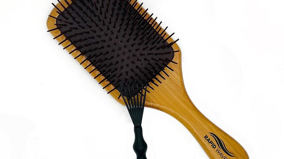 Rapid Waves Bamboo Detangle Paddle Brush