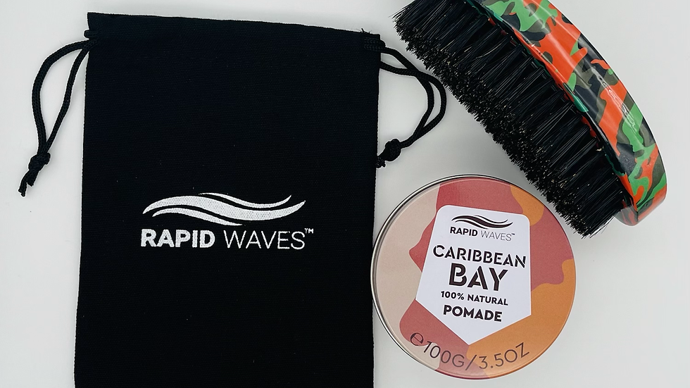 Rapid Waves 360, 540, 720 Wavers MEDIUM Palm Brush & Pomade