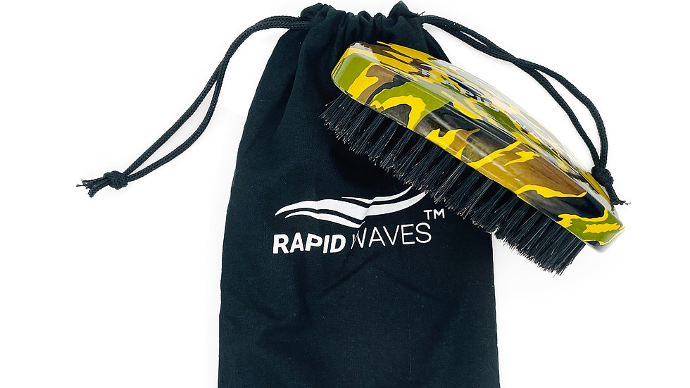 Rapid Waves 360, 540, 720 Camouflage SOFT CURVE Palm Wave Brush