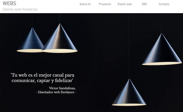 Victor Sandalinas Diseñador de webs freelance
