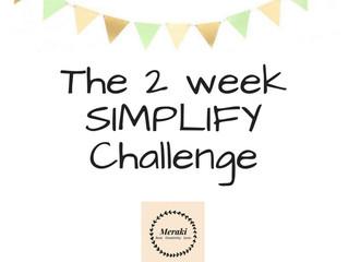 The 2 week SIMPLIFY challenge