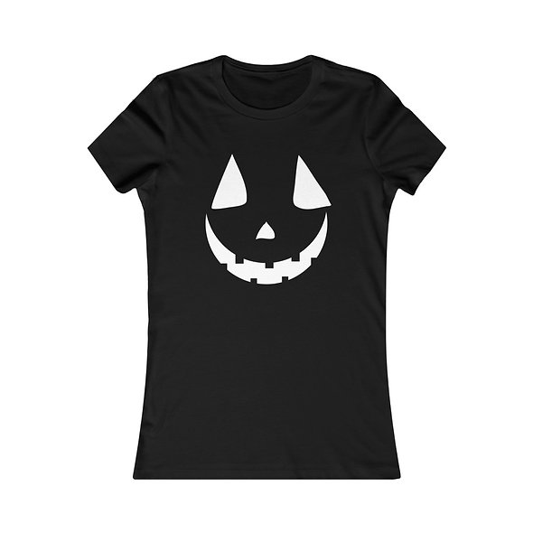 Women's Fitted Pumpkin Tee