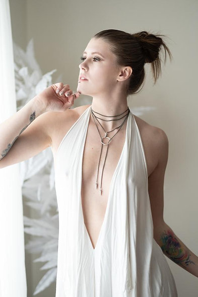 Dharma Neck Wrap - Lariat in Silver